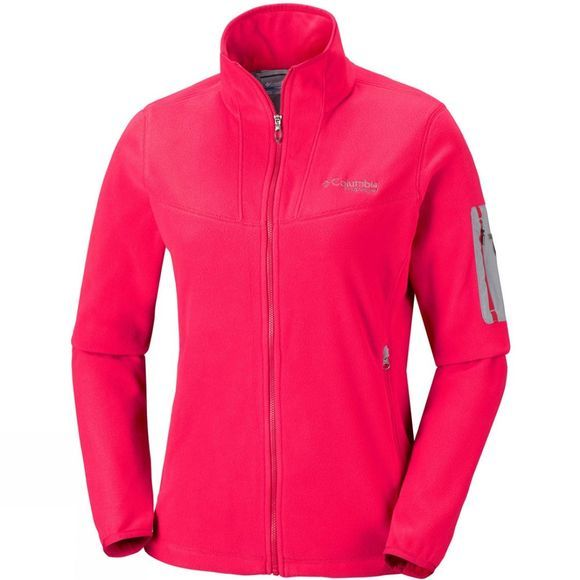 Columbia Womens Titan Pass II 1.0 Fleece Red Camellia/ Astral