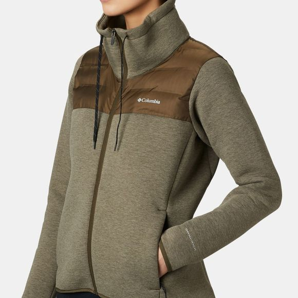 Columbia Womens Northern Comfort Hybrid Jacket Olive Green