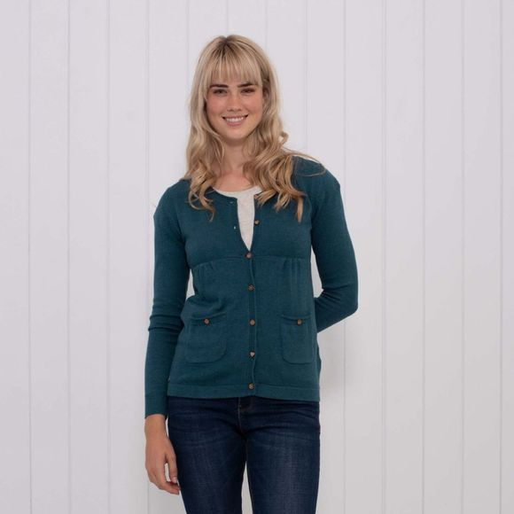 Brakeburn Womens Pocket Cardigan Teal