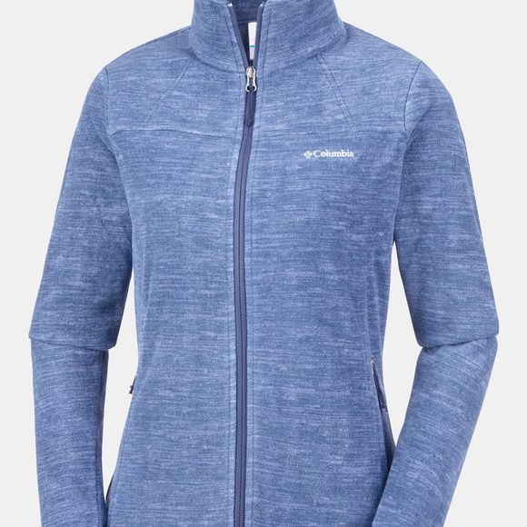 Columbia Womens Fast Trek Light Printed Full Zip Fleece Nocturnal Spacedye