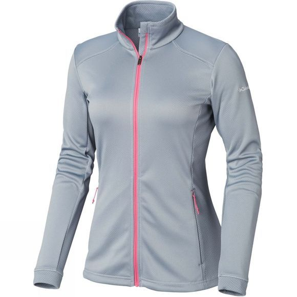 Columbia Womens Abbey Lake Full Zip Fleece Tradewinds Grey