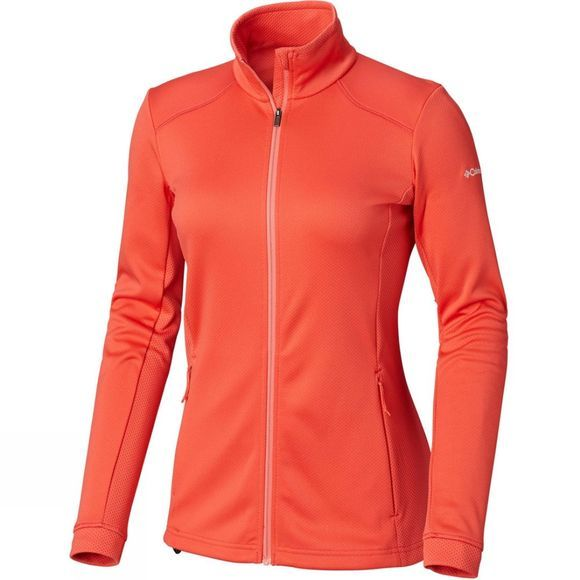 Columbia Womens Abbey Lake Full Zip Fleece Red Coral