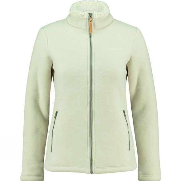 Ayacucho Womens Cuddle II Fleece Jacket Ecru Melange
