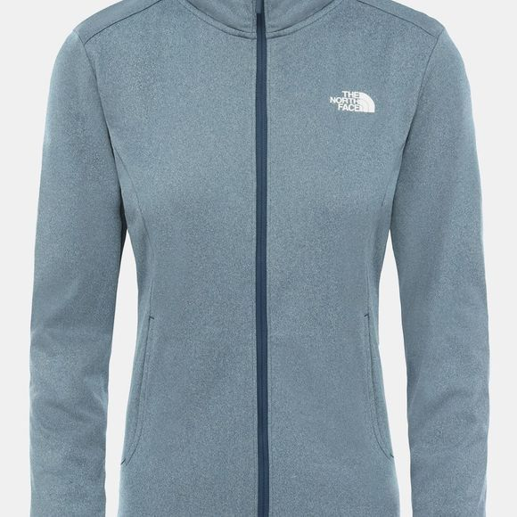 The North Face Womens Quest Full Zip Jacket Blue Wing Teal White Heather