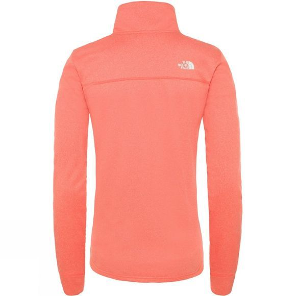 The North Face Womens Quest Full Zip Jacket Radiant Orange White Heather