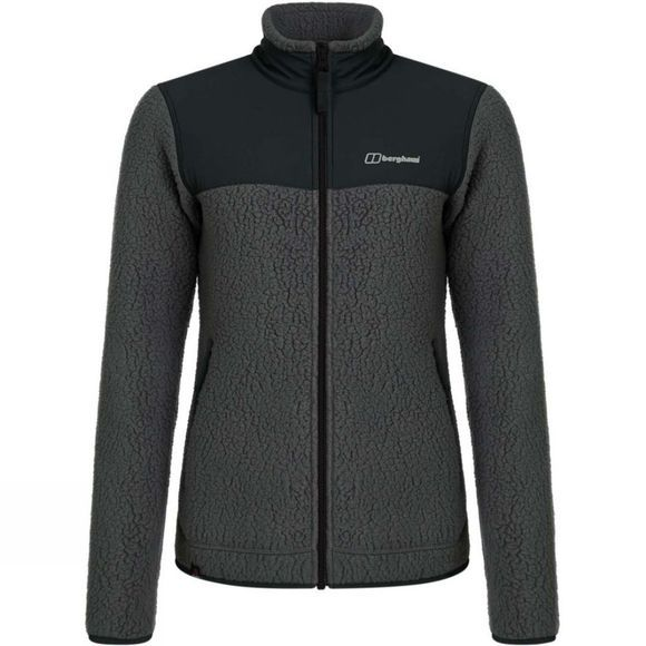 Berghaus Womens Tahu Fleece Jacket Grey Pinstripe/Jet Black