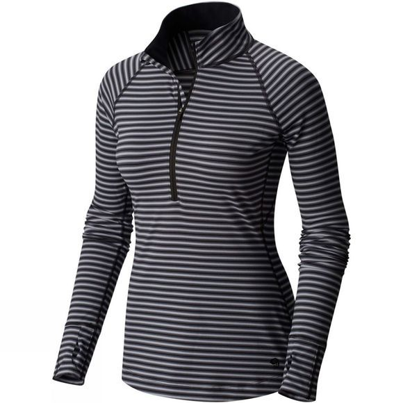 Womens Butterlicious Stripe Long Sleeve Half Zip
