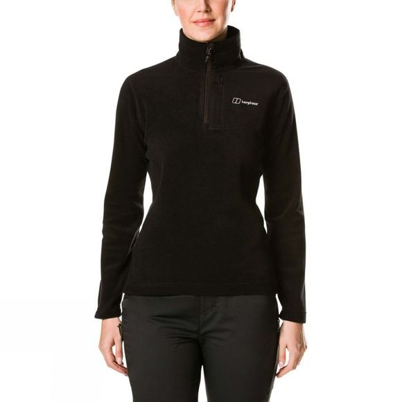 Berghaus Womens Prism Micro PT Half Zip Fleece Black/Black