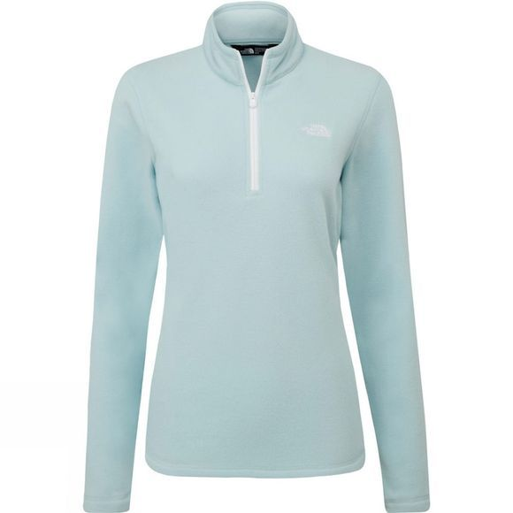The North Face Womens Cornice II 1/4 Zip Fleece Windmill Blue/TNF White