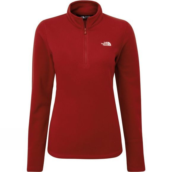 The North Face Womens Cornice II 1/4 Zip Fleece Cardinal Red/TNF White