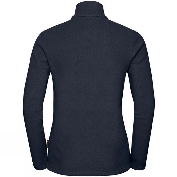 Jack Wolfskin Womens Langdale 1/4 Zip Fleece MIDNIGHT BLUE
