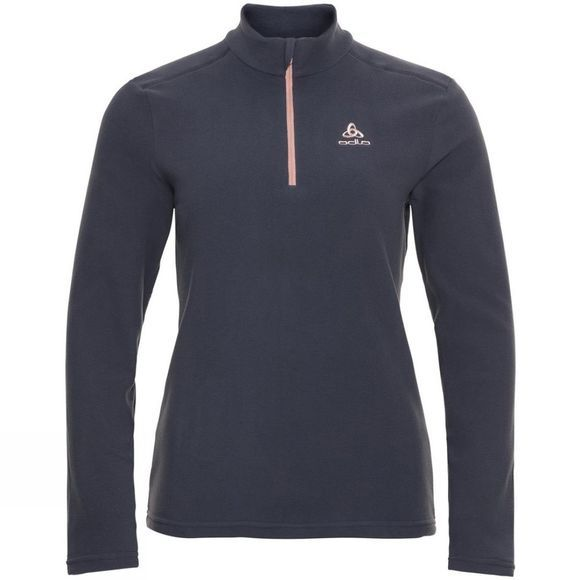 Odlo Womens Orsino Half Zip Fleece Odyssey Gray - Sepia Rose