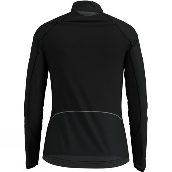 Odlo Womens Zeroweight Ceramiwarm 1/2 Zip Midlayer Black - Reflective Print Fw19