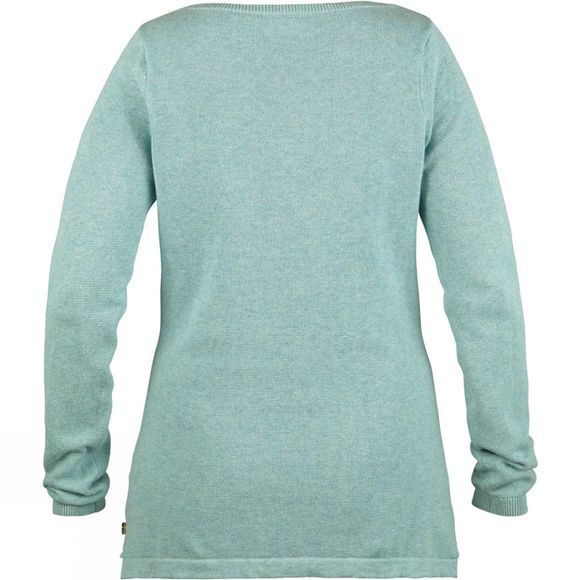 Fjallraven Womens High Coast Knit Sweater Ocean Mist