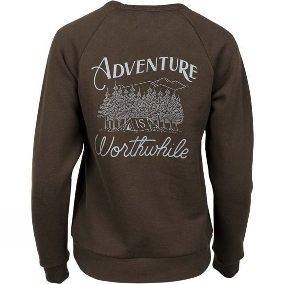United By Blue Womens Adventure Crew Pullover Olive
