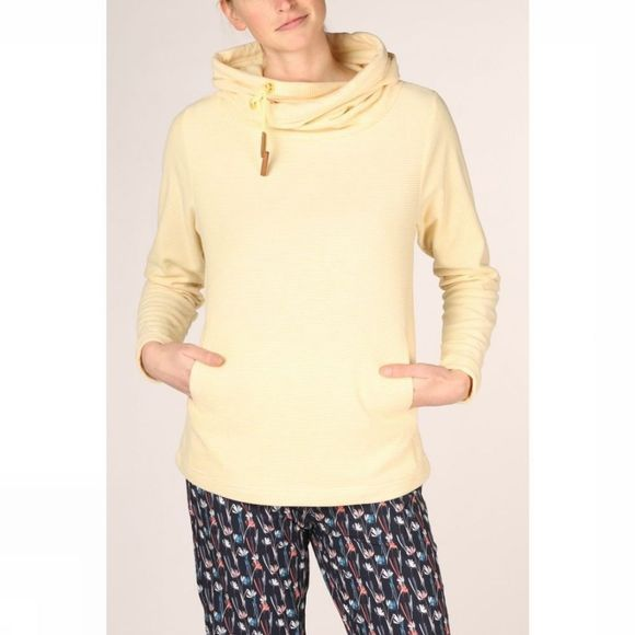 Ayacucho Womens Whistler Fleece White/Lemon Drop Stripes