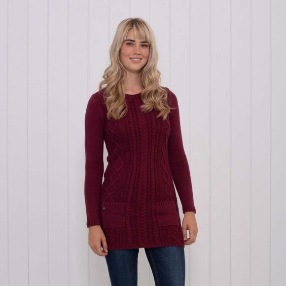 Womens Cable Knit Tunic