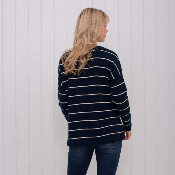 Womens Loose Fit Stripe Jumper