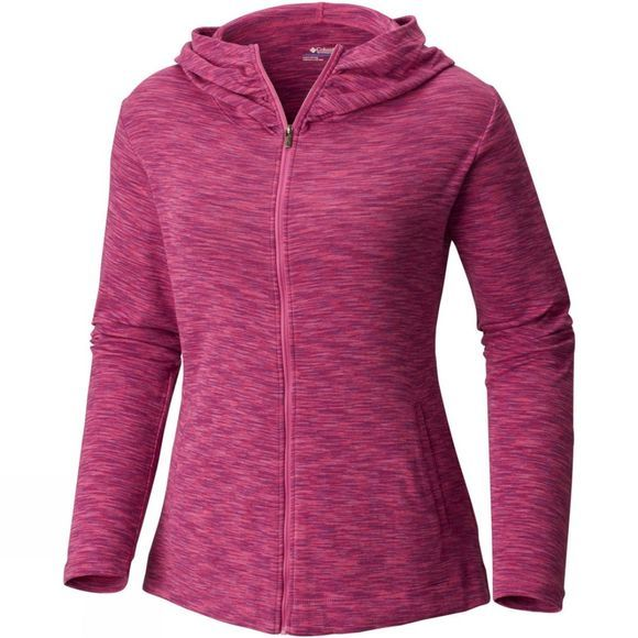 Columbia Women's OuterSpaced Full Zip Hoodie Bright Lavender Spacedye