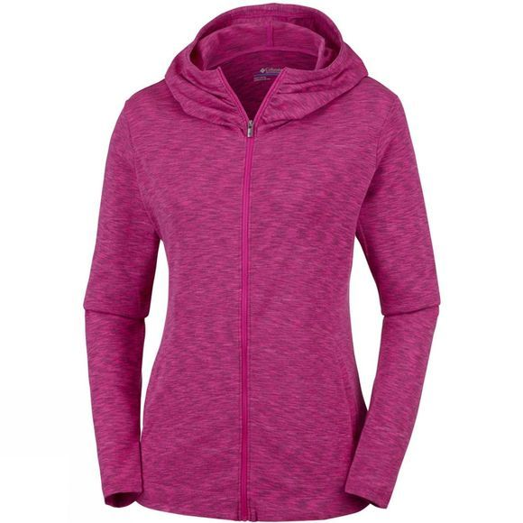 Columbia Women's OuterSpaced Full Zip Hoodie Haute Pink Space