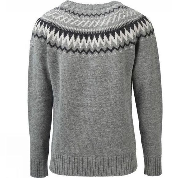 Ayacucho Womens Nordic Wood Jumper Dark Grey/White
