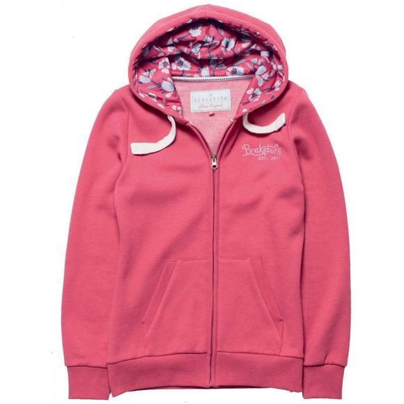Womens Embroidered Zip Through Hoody