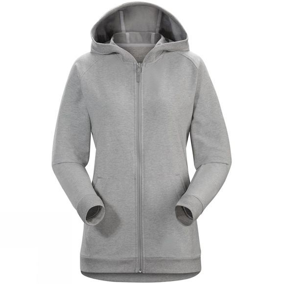 Arc'teryx Womens Word On end Full-Zip Hoody LIGHT GREY HEATHER