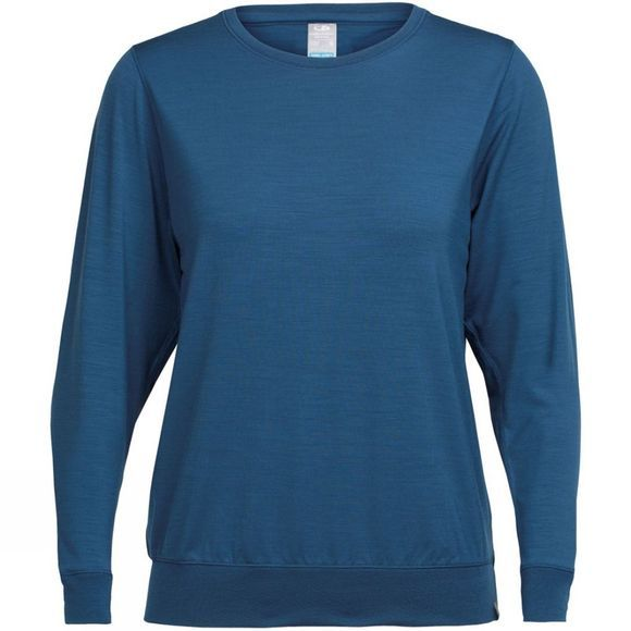 Icebreaker Womens Mira Long Sleeve Crew Top Prussian Blue