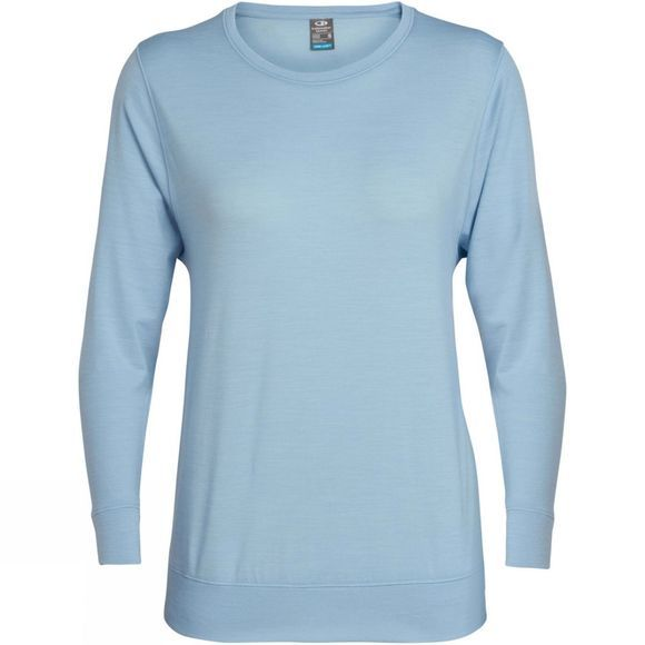Icebreaker Womens Mira Long Sleeve Crew Top Sky