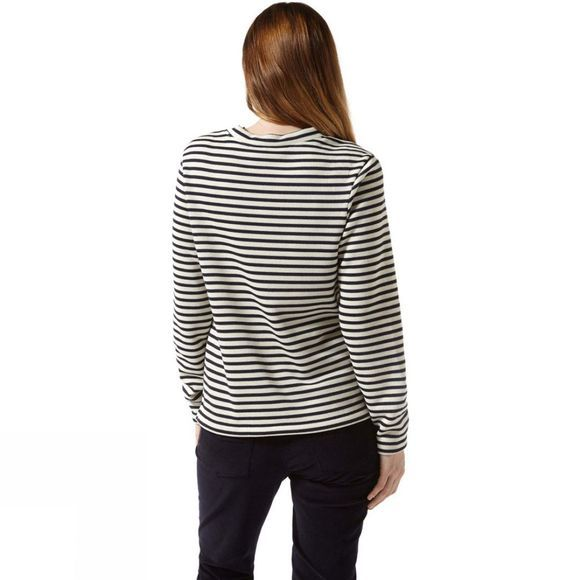 Craghoppers Womens Balmoral Crew Neck Hoodie Calico/Blue Navy Stripe