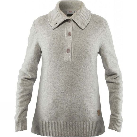Fjallraven Womens Greenland Re Wool Sweater Grey