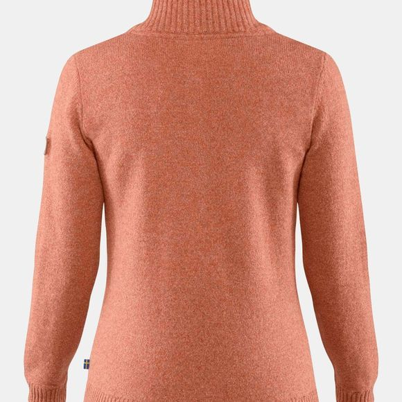 Fjallraven Womens Greenland Re Wool Sweater Terracotta Pink
