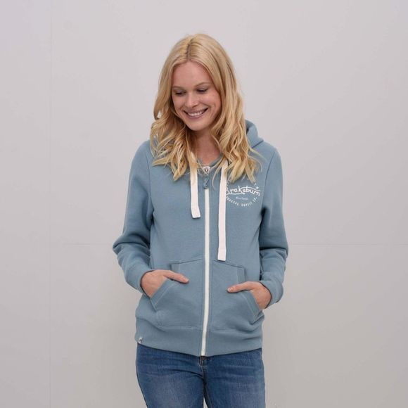 Womens Applique Zip Hoody
