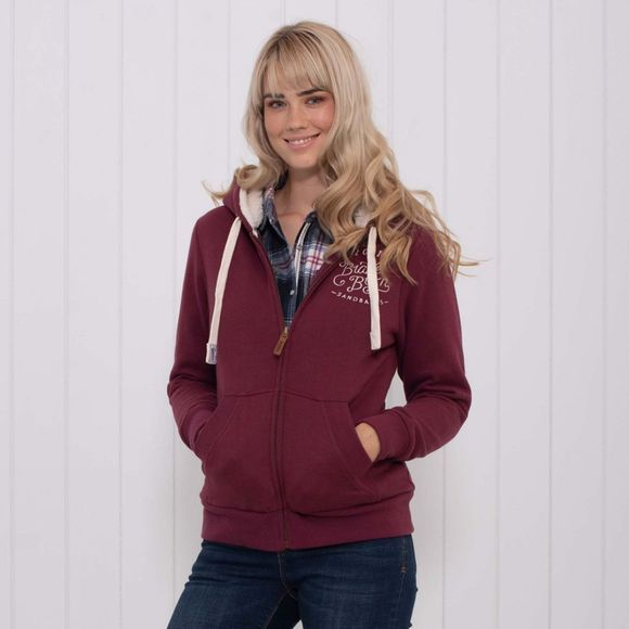 Brakeburn Womens Sandbanks Borg Lined Hoody Red
