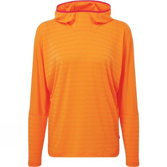 Mountain Equipment Womens Groundup Hoody Orange Sherbert stripe