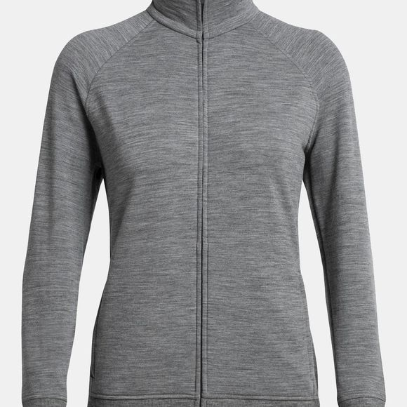 Icebreaker Womens Lydmar LS Zip  Gritstone Heather