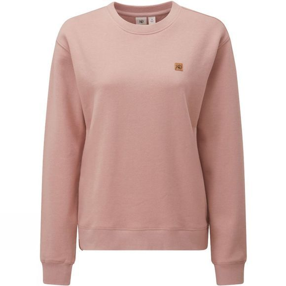 Tentree Womens BF Crew Sweater Quartz Pink Heather