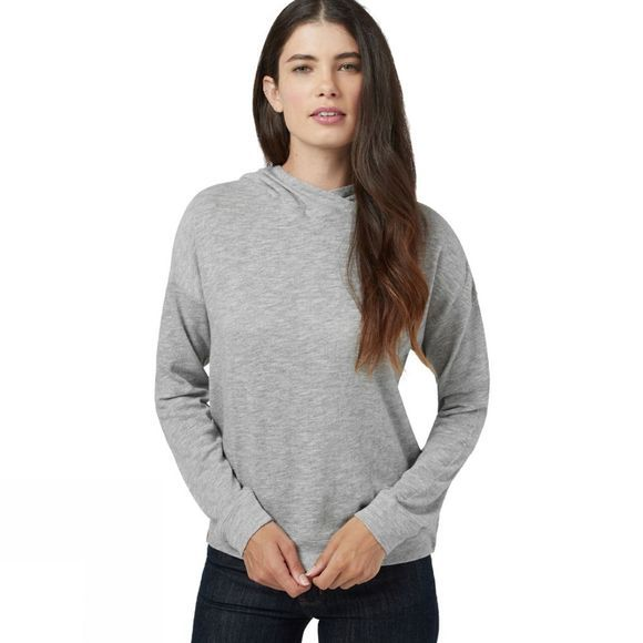 Tentree Womens Burney Knit Hoodie Hi Rise Grey Marled