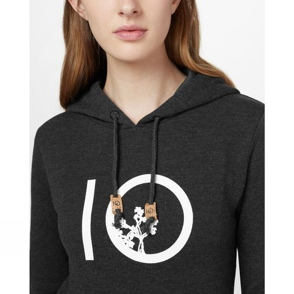 Tentree Womens Ten Hoodie Meteorite Black Heather