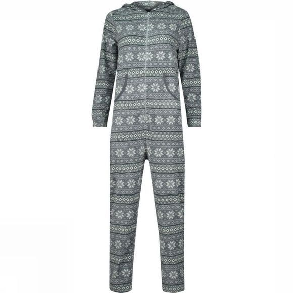 Ayacucho Womens Crevasse Onesie Light Grey Print