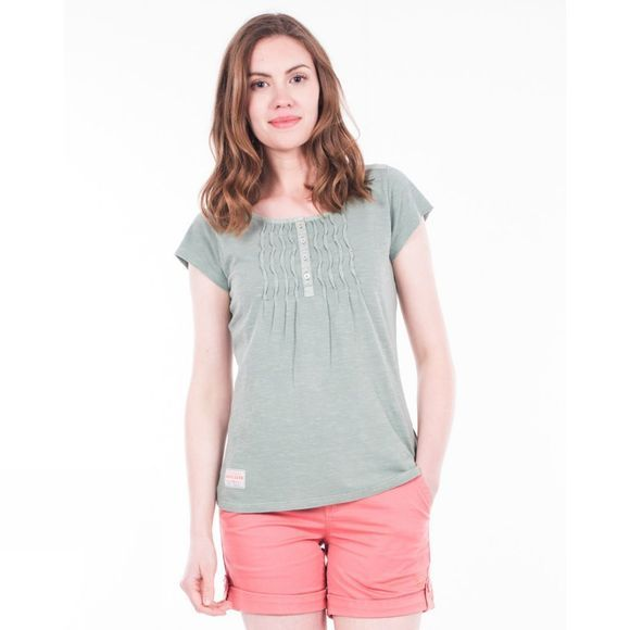 Brakeburn Womens Pleated Tee Green