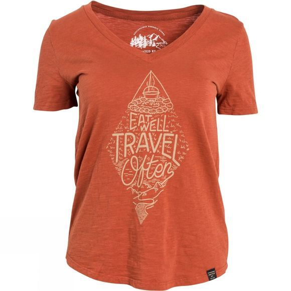 United By Blue Womens Travel Often T-Shirt Rust
