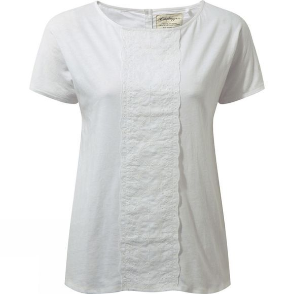 Craghoppers Womens Connie Short Sleeve Top Optic White