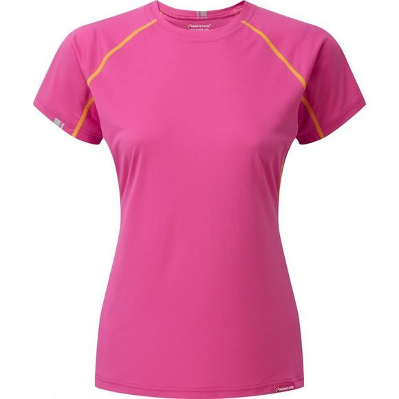 Montane Womans Sonic T-Shirt Dolomite Pink/ French Berry