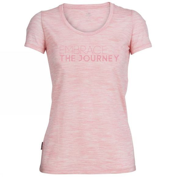 Womens Tech Lite Short Sleeve Scoop Embrace the Journey