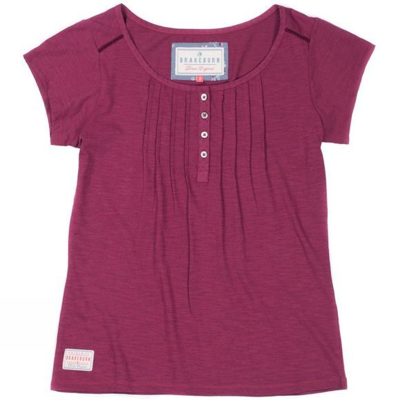Womens Garment Dyed Pleated Tee