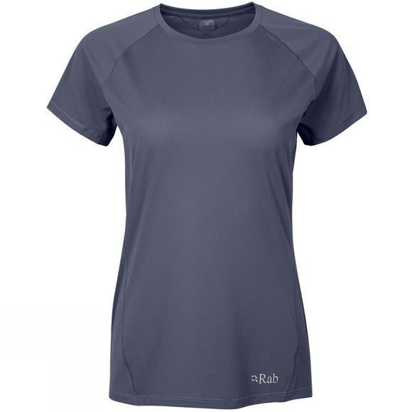 Rab Womens Force Short Sleeve T-Shirt Steel