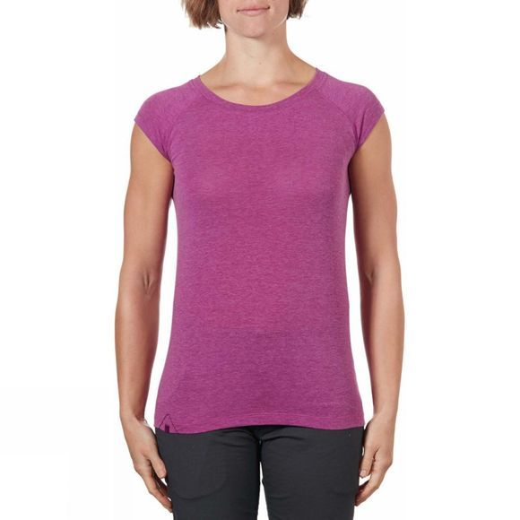 Rab Womens Crimp Short Sleeve Tee Peony Marl