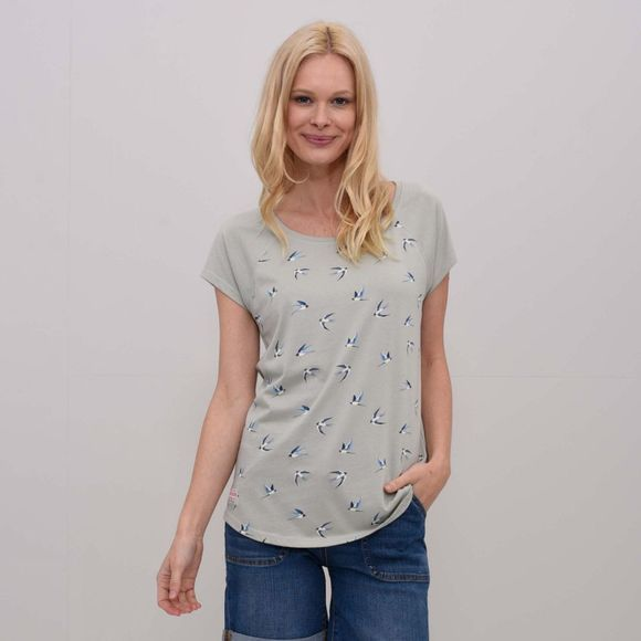 Brakeburn Womens Swallows T-Shirt Grey