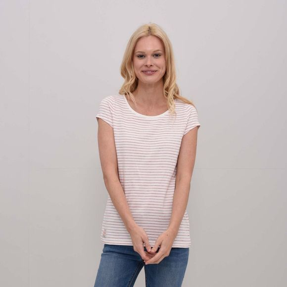 Brakeburn Womens Stripe T-Shirt Red